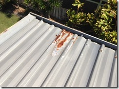Rust to Roof Sheeting causing water penetration